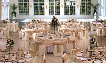 Reception hall decoration on a budget